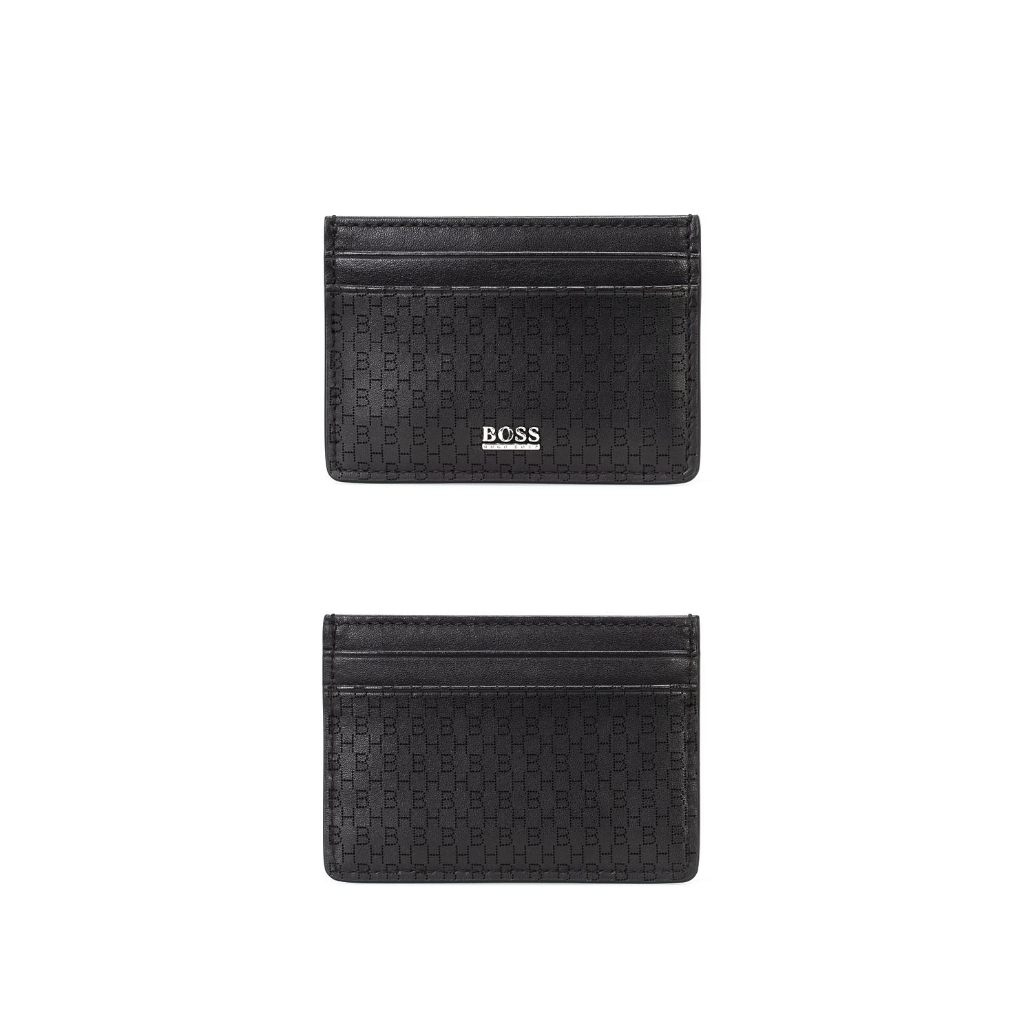 BOSS Crosstown Men's Black Leather Cardholder - Product number 5912210
