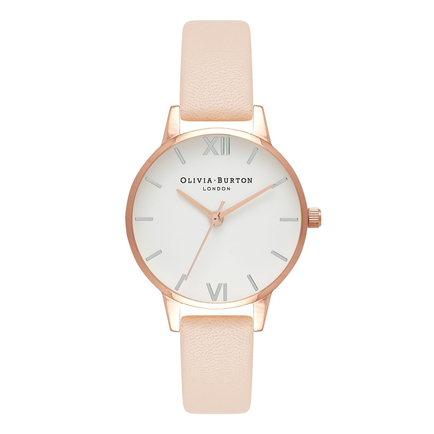 Olivia Burton Pink Leather Strap Watch & Bracelet Set - Product number 5912237