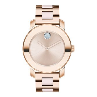 Movado Bold Ladies' Rose Gold Tone Bracelet Watch - Product number 5912253