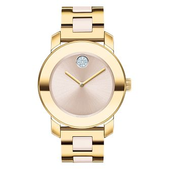 Movado Bold Ladies' Yellow Gold Tone Bracelet Watch - Product number 5912288