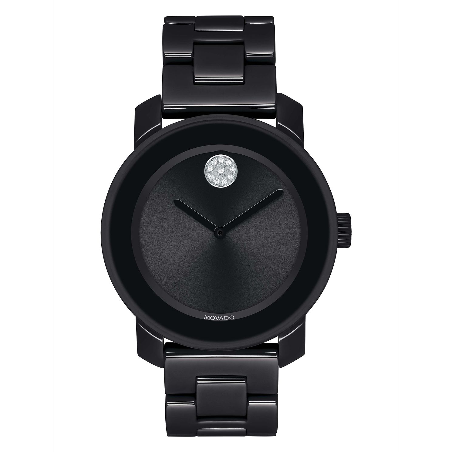 Movado Bold Ladies' Black Ceramic Bracelet Watch - Product number 5912326