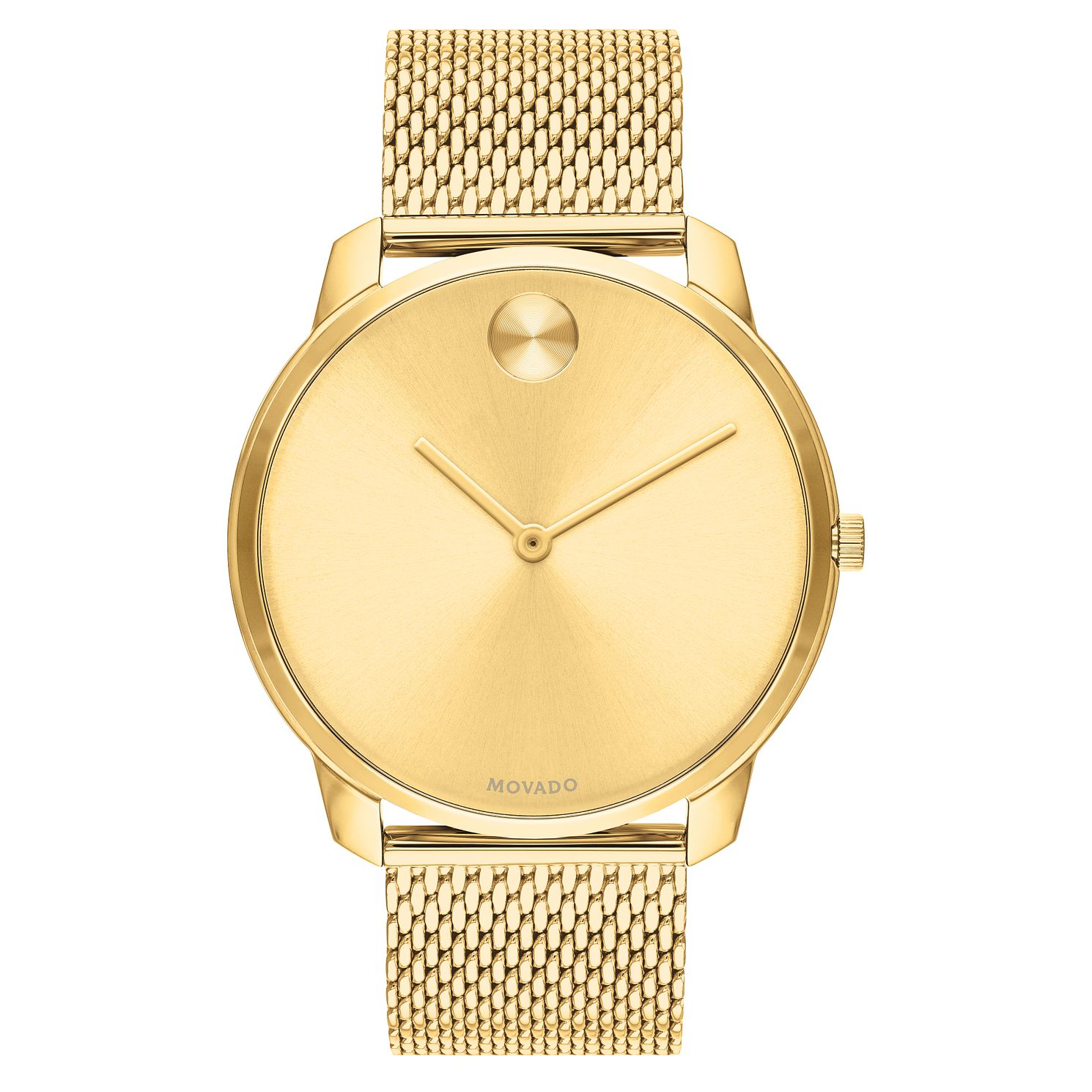 Movado Bold Men's Yellow Gold Tone Mesh Bracelet Watch - Product number 5912350