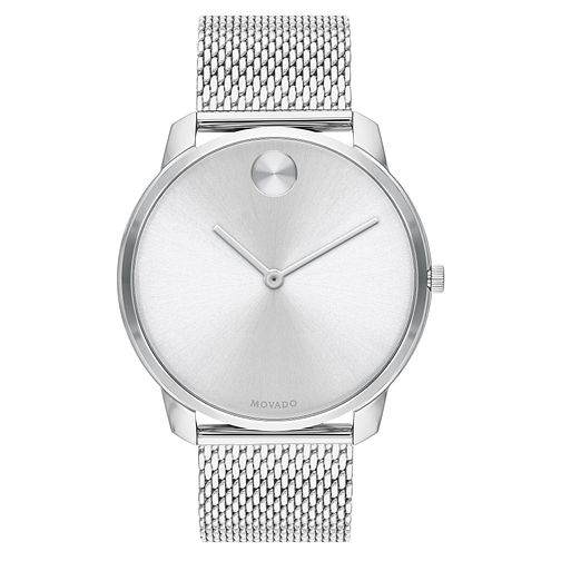 Movado Bold Men's Stainless Steel Mesh Bracelet Watch - Product number 5912369