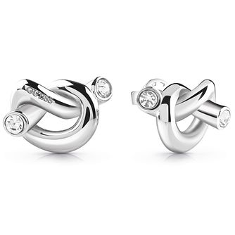 Guess Stainless Steel Swarovski Crystal Knot Stud Earrings - Product number 5920841
