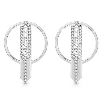 Guess Stainless Steel Swarovski Crystal Drop Earrings - Product number 5921163