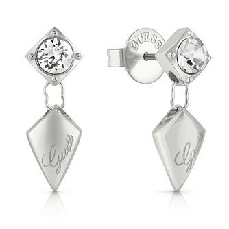 Guess Stainless Steel Swarovski Crystal Drop Earrings - Product number 5921171