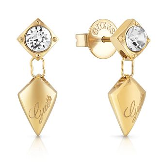 Guess Gold Tone Swarovski Crystal Drop Earrings - Product number 5921201