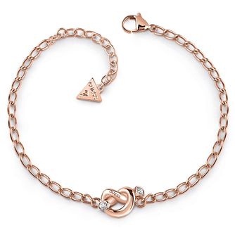 Guess Rose Gold Tone Swarovski Crystal Knot Bracelet - Product number 5921511