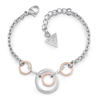 Guess Stainless Steel Swarovski Crystal Circle Bracelet - Product number 5921562