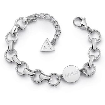Guess Stainless Steel Round Charm Chain Bracelet - Product number 5921600