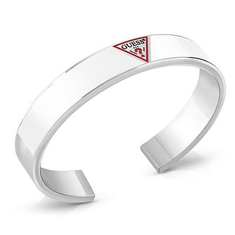 Guess Stainless Steel Triangle Logo Bangle - Product number 5921805