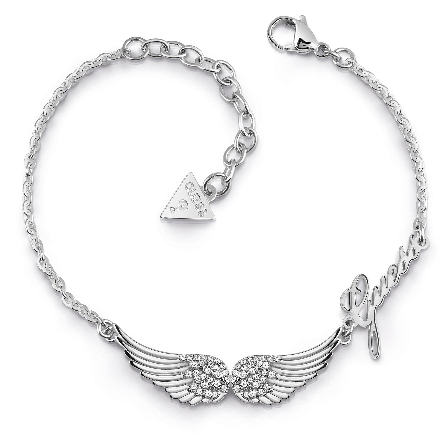 Guess Stainless Steel Swarovski Crystal Wings Bracelet - Product number 5921937