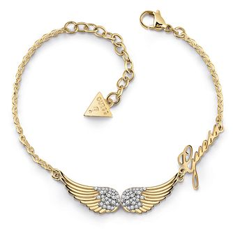 Guess Gold Tone Swarovski Crystal Wings Bracelet - Product number 5921953