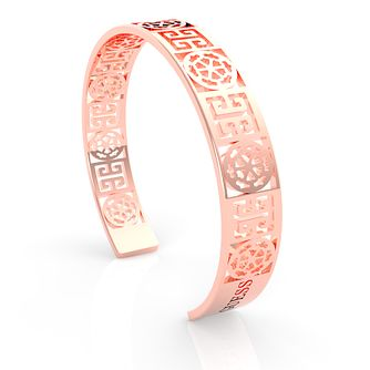 Guess Rose Gold Tone Peony Cut-Out Bangle - Product number 5922054
