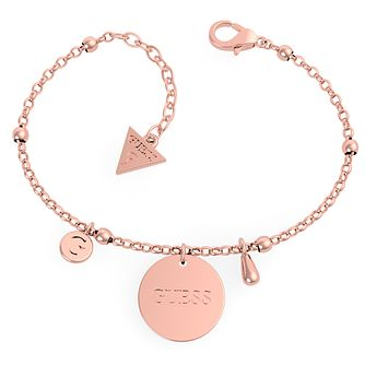 Guess Rose Gold Tone Twist Charm Bracelet - Product number 5922070