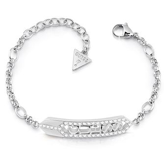 Guess Stainless Steel Swarovski Crystal Bar Bracelet - Product number 5922089