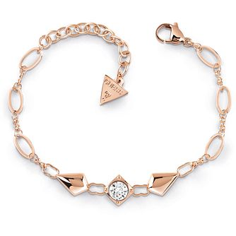 Guess Rose Gold Tone Swarovski Crystal Bracelet - Product number 5922119