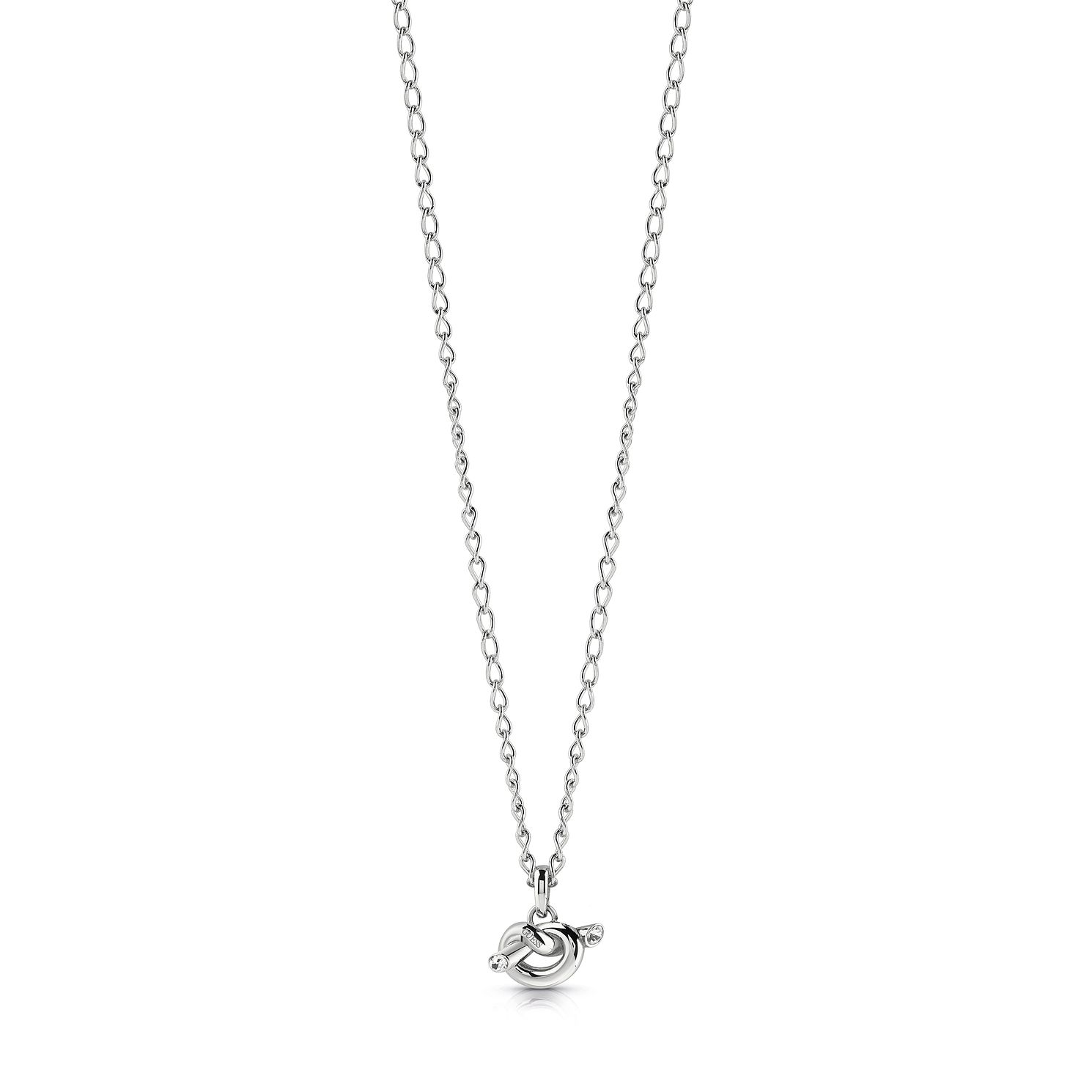 Guess Stainless Steel Swarovski Crystal Knot Necklace - Product number 5922127