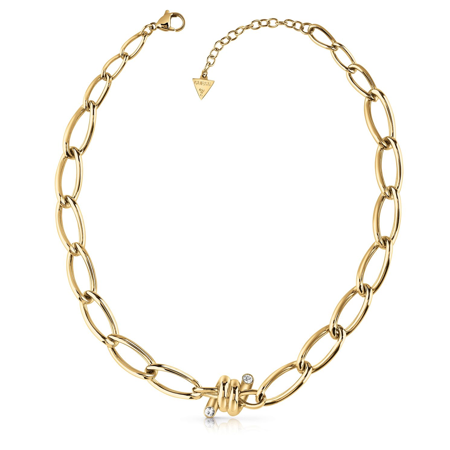 Guess Gold Tone Swarovski Crystal Twist Necklace - Product number 5922291