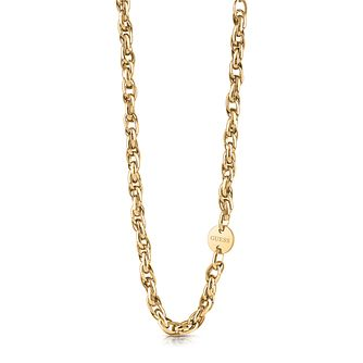 Guess Gold Tone Round Charm Chain Necklace - Product number 5922534