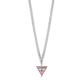 Guess Stainless Steel Triangle Logo Necklace - Product number 5922690