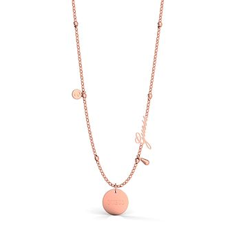 Guess Rose Gold Tone Twist Charm Necklace - Product number 5922860