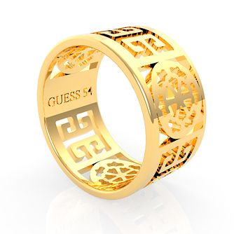 Guess Gold Tone Peony Cut-Out Ring - Product number 5922941