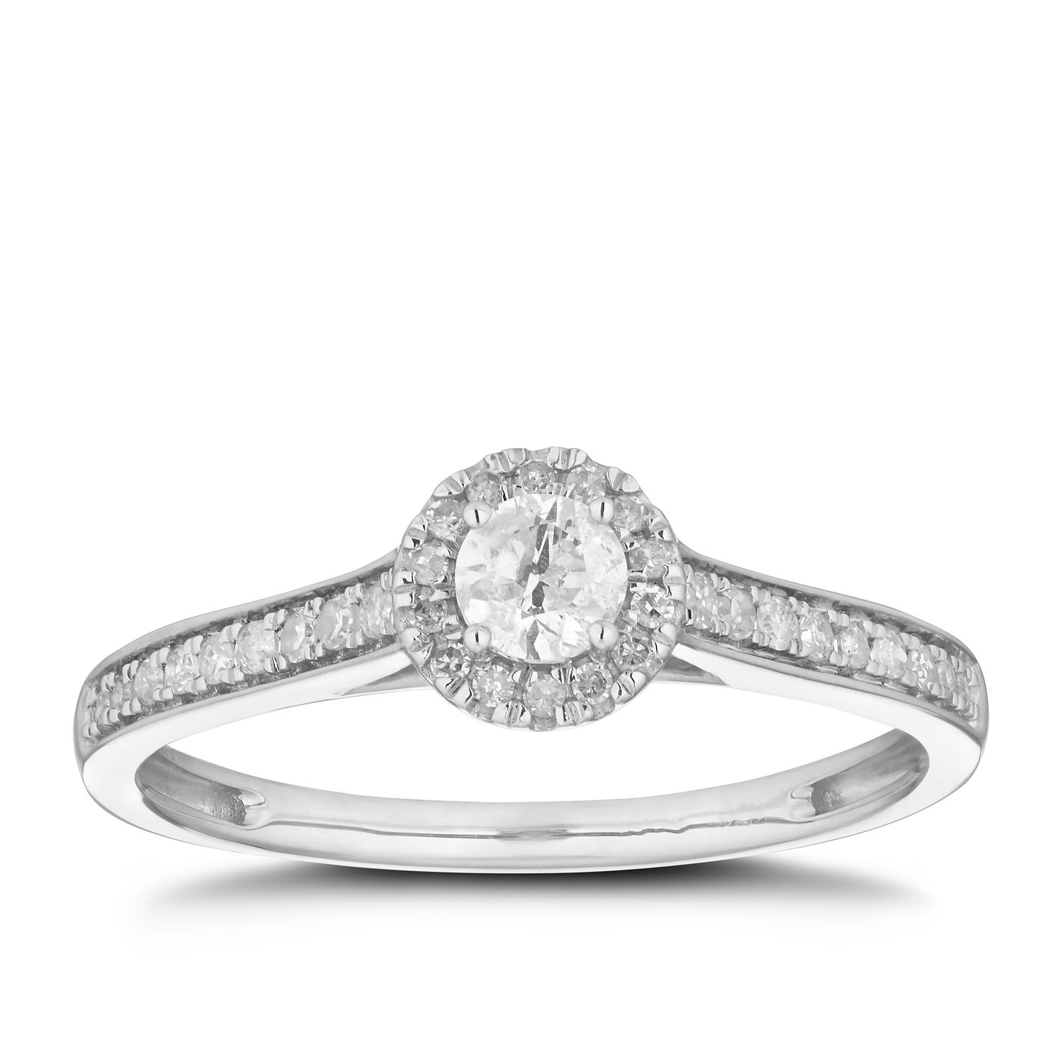9ct White Gold 1/3ct Diamond Solitaire Ring - Product number 5923735