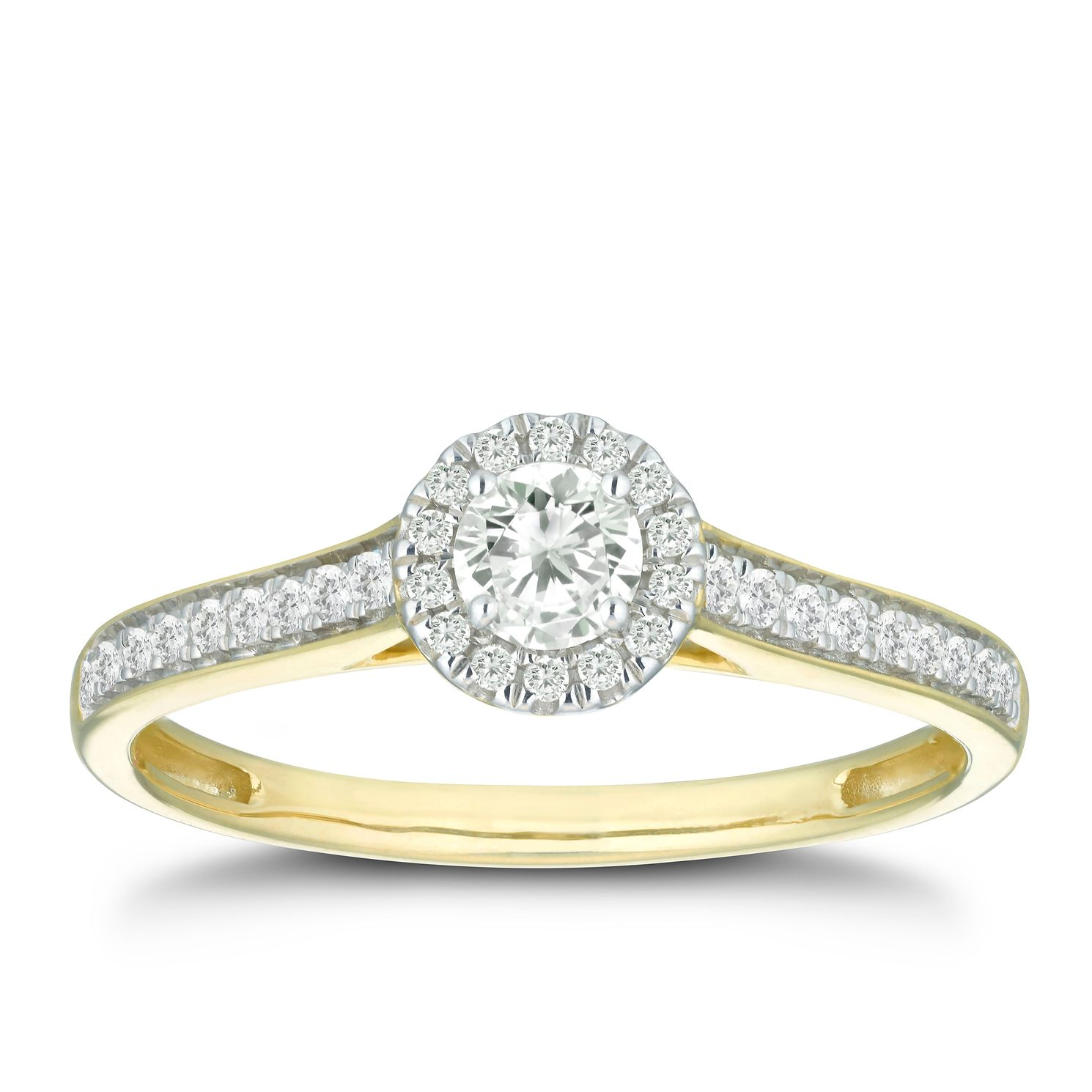 9ct Yellow Gold 1/3ct Diamond Solitaire Ring - Product number 5923964