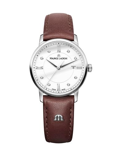 Maurice Lacroix Eliros Ladies' Brown Leather Strap Watch - Product number 5925649