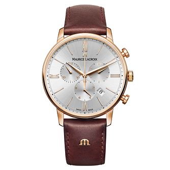 Maurice Lacroix Eliros Men's Rose Gold Plated Strap Watch - Product number 5925797