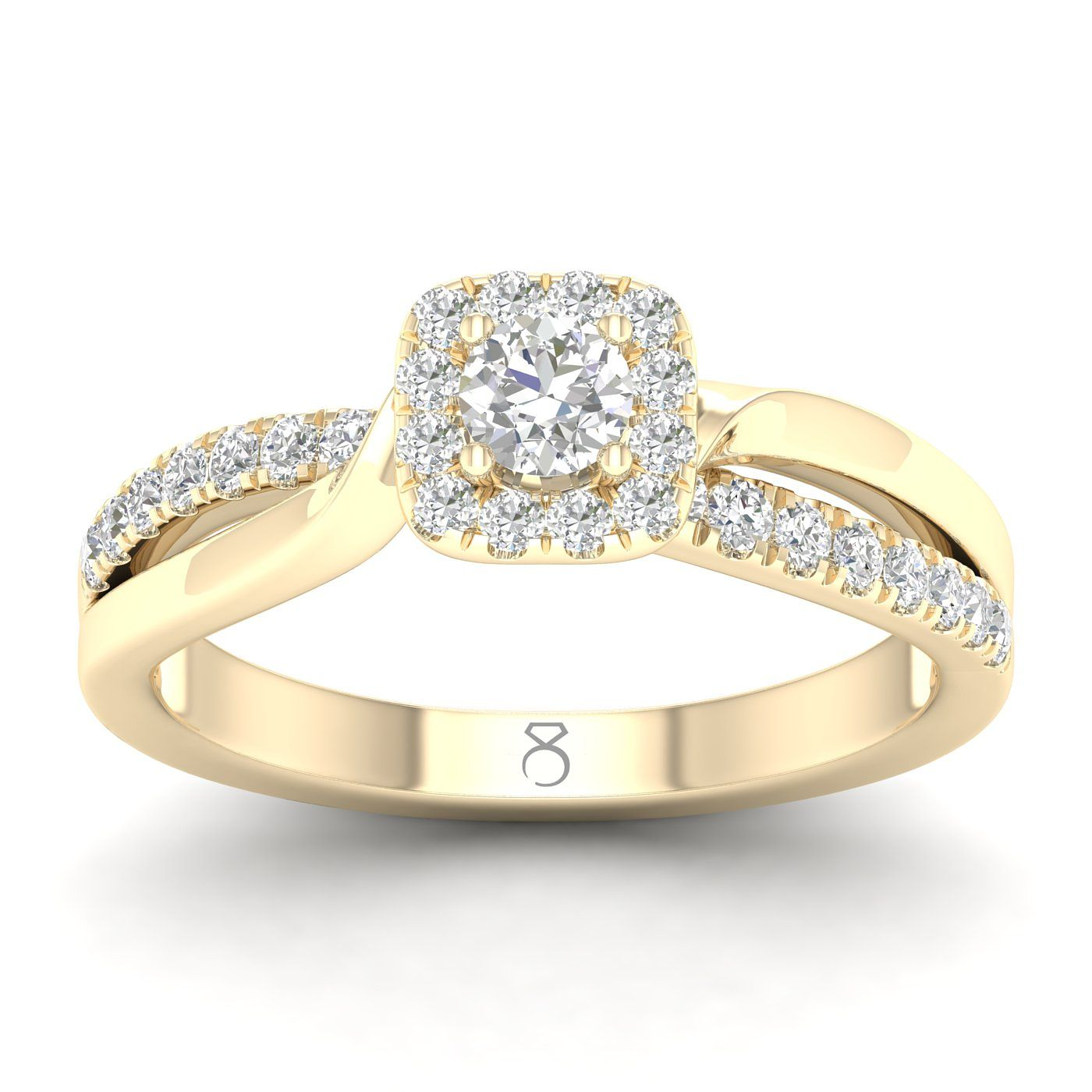 The Diamond Story 18ct Gold 3/4ct Diamond Cushion Halo Ring - Product number 5928354