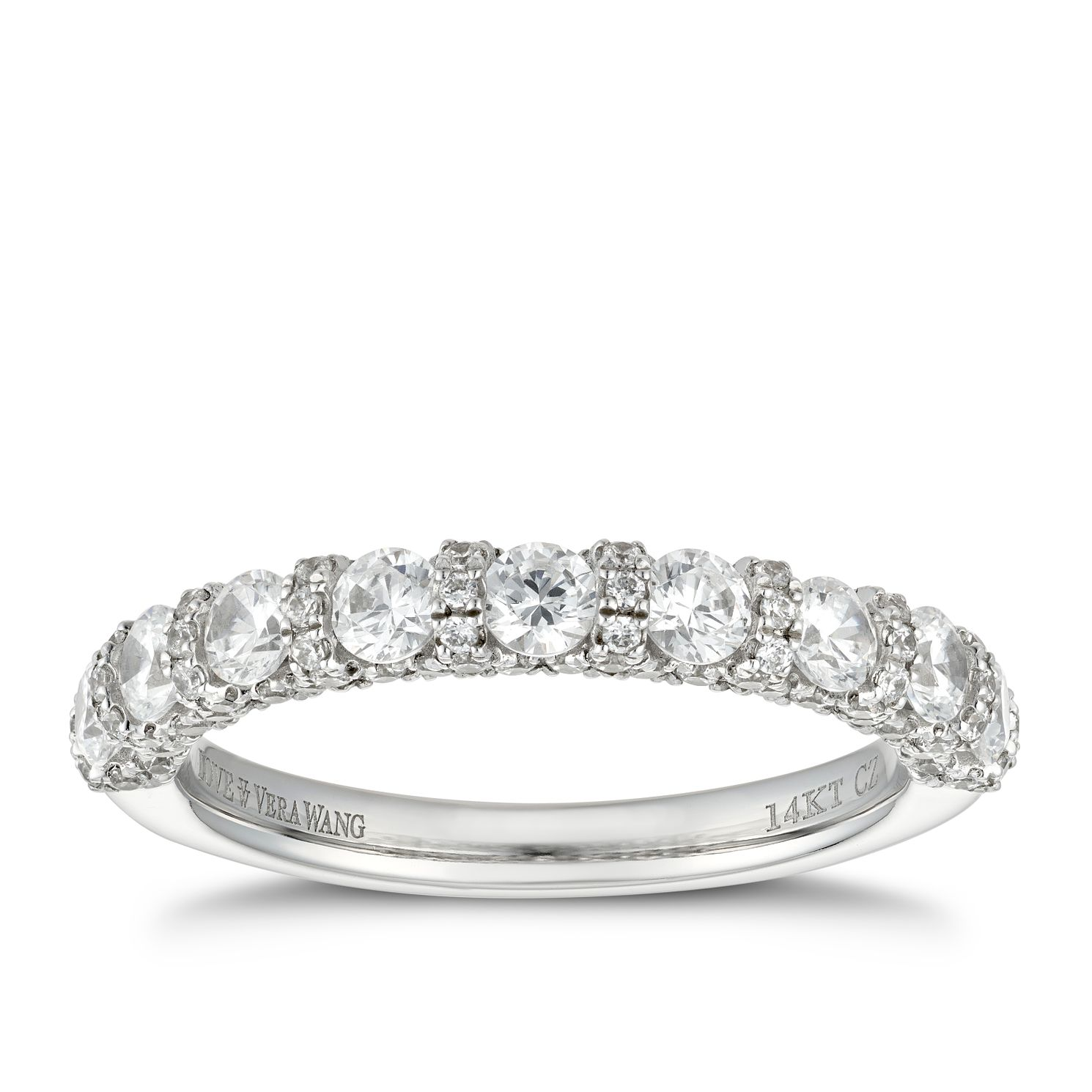 Vera Wang 18ct White Gold 1.23ct Diamond Eternity Ring - Product number 5928958