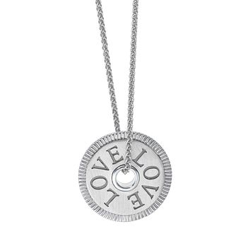 Vera Wang Sterling Silver Token LOVE Pendant - Product number 5930065