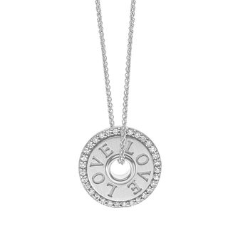 Vera Wang Sterling Silver Diamond Token LOVE Pendant - Product number 5930073