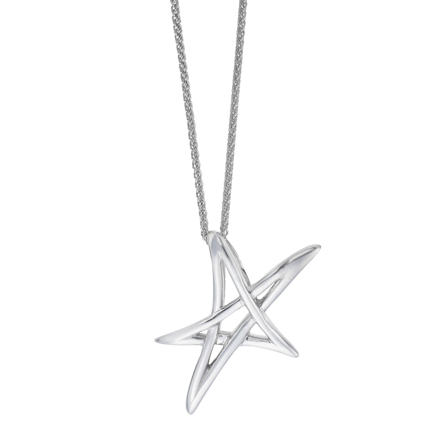 Vera Wang Sterling Silver Star Pendant - Product number 5930081