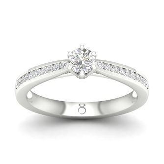 The Diamond Story Platinum 0.33ct Diamond Solitaire Ring - Product number 5930294
