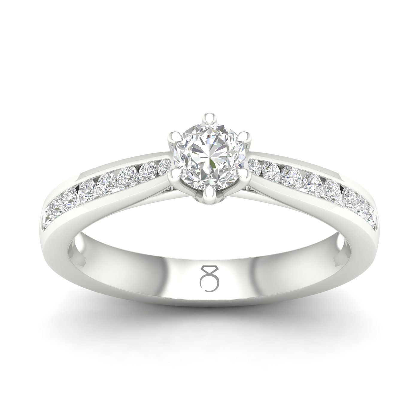 The Diamond Story Platinum 1/2ct Channel Set Solitaire Ring - Product number 5930456