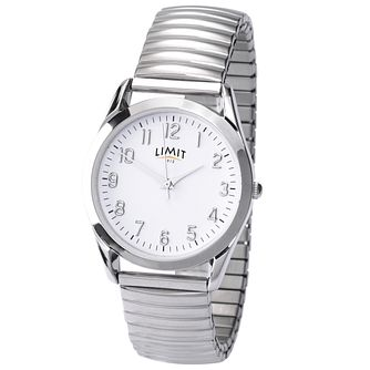 Limit Men's Round White Dial Expander Watch - Product number 5936802
