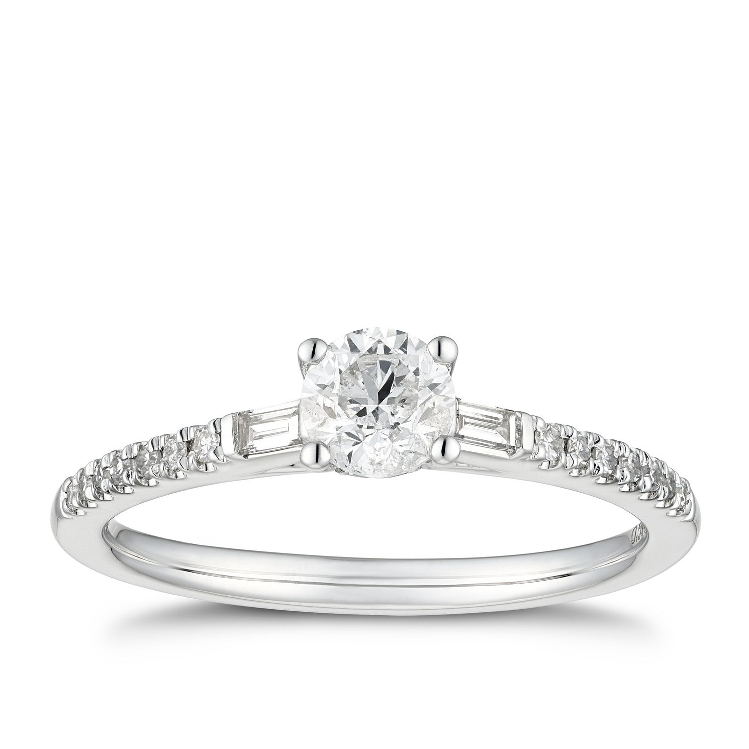 18ct White Gold 0.50ct Total Diamond Ring - Product number 5936934