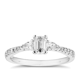 18ct White Gold 2/3ct Diamond Mix Cut Ring - Product number 5939666