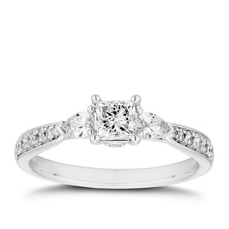 18ct White Gold 2/3ct Diamond Mix Cut Ring - Product number 5940400