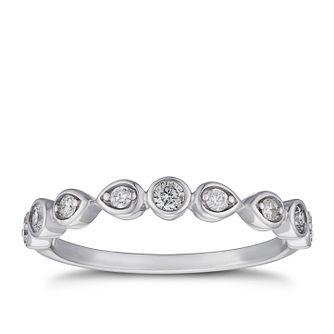 9ct White Gold 1/5ct Diamond Eternity Ring - Product number 5941695