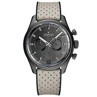 Zenith El Primero Range Rover Men's Grey Leather Strap Watch - Product number 5942977