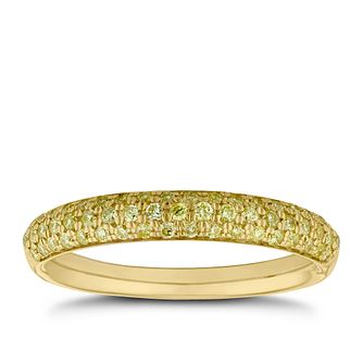 18ct Yellow Gold 1/3ct Diamond Pave Eternity Ring - Product number 5944112