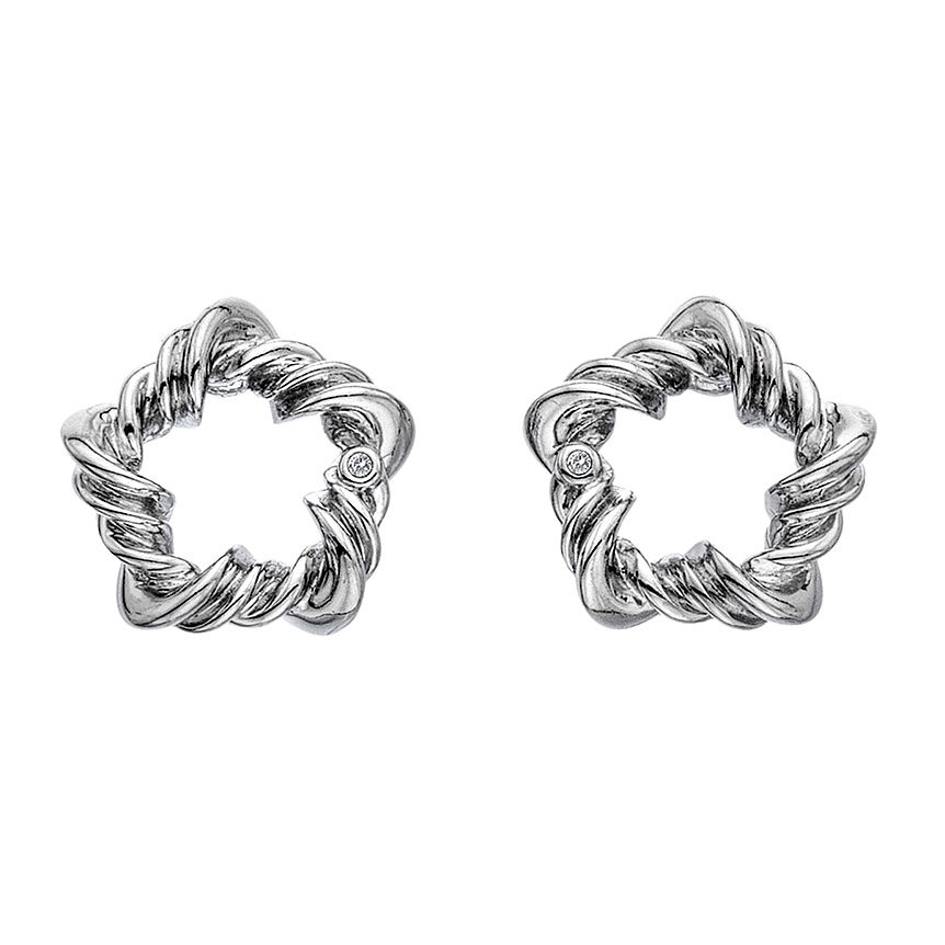 Hot Diamonds Sterling Silver Vine Star Earrings - Product number 5946883