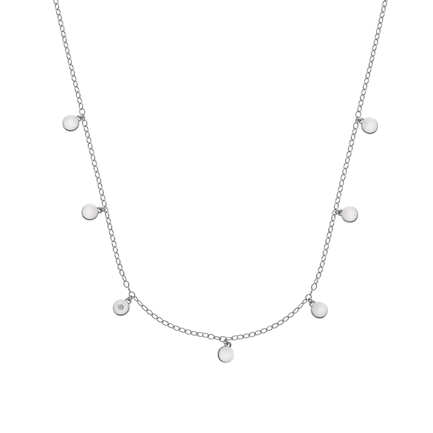 Hot Diamonds Sterling Silver Monsoon Necklace - Product number 5946905