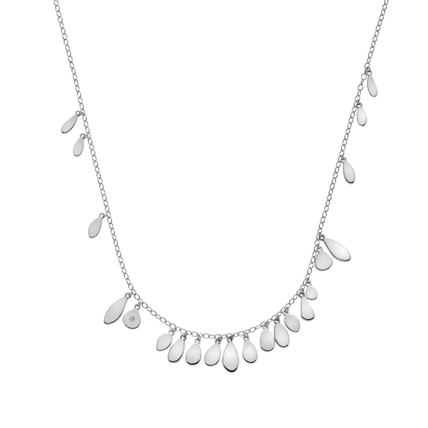 Hot Diamonds Sterling Silver Monsoon Statement Necklace - Product number 5946913