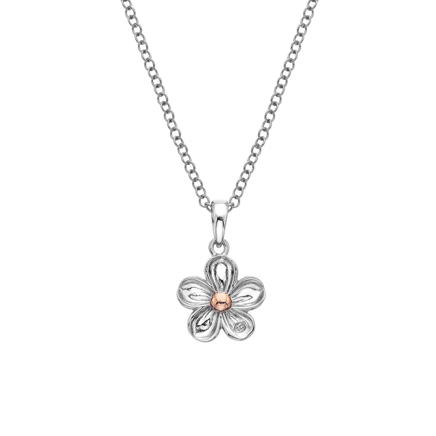 Hot Diamonds Sterling Silver Forget Me Not Pendant - Product number 5946948