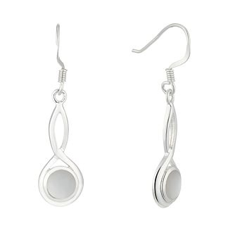 Silver Mother-Of-Pearl Infinity Drop Earrings - Product number 5947014